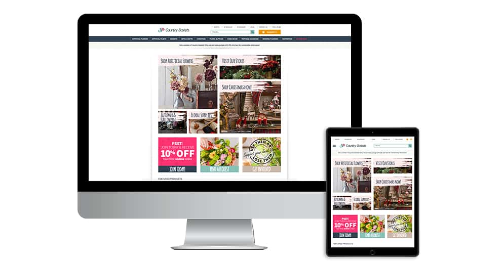 Country Baskets Website