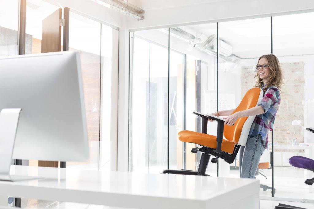 A supportive office chair is essential when working from home